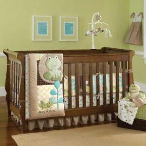 Cute Pond Crib Bedding 7 piece (Crib / Toddler Bed Set)