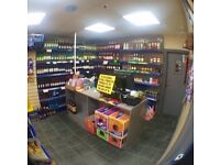 3 bed flat with off licence shop below in st helens nutgrove road, ready to trade