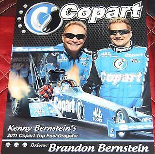 2011 Brandon Bernstein Copart Top Fuel Nhra Postcard
