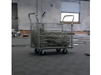 Mail or warehouse cage trolly