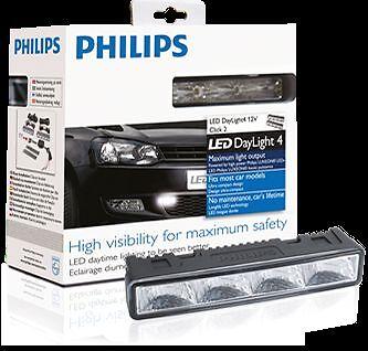 Genuine Philips Led Daylight 4 12V LED DRL Daytime Running Light 12820WLEDX1