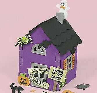 Halloween House Foam Huanted Craft Kit Kids Gift Purple
