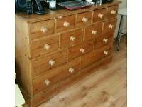 Solid oak cabinet unit