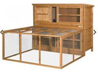 Chartswell luxury 4ft rabbit hutch with run and cover