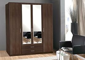 BRAND NEW /// OSAKA 3 / 4 DOOR WARDROBE AVAILABLE IN WALNUT & WHITE COLOR **** CALL NOW