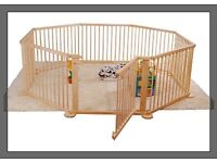 Child Baby Children Kid Wooden Playpen Play Pen Room Divider