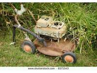 WANTED lawnmowers strimmers blowers pitbike ect.