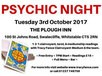 CLAIRVOYANT-MEDIUM TRACY FANCE PRESENTS: PSYCHIC NIGHT IN WHITSTABLE