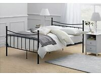 FOR COLLECTION. Metal frame double bed - Black. Perfect condition