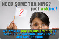 Sage 50 Accounting, QuickBooks & Bookkeeping One on One Training
