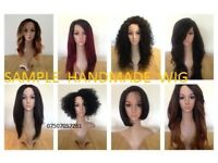 Wigs all types of hair aviliable and can be used Brazilian, Indian, Monogolian, Malaysian.Handmade.