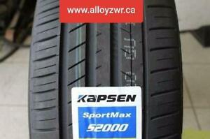4 New Summer tires Kapsen 235/45r18  /  4 Pneus dete neufs Kapsen 235/45/18      OPEN 7 DAYS!