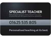 SPECIALIST TEACHER - INTERVENTIONS FOR MATHS & ENGLISH ONLINE & FACE TO FACE - ADHD, DYSLEXIA & MORE