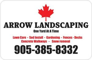 Sod Install - Property Maintenance - Snow Removal + more...
