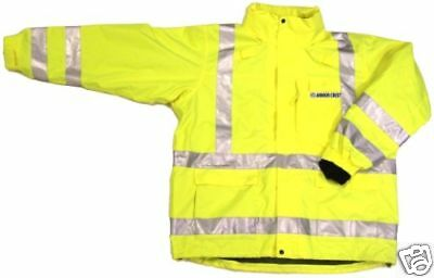 ANSI CLASS 3 SAFETY 3-in-1 JACKET LIME 28-5966 MEDIUM