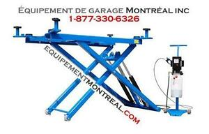 Lift ciseau 6000 lbs - automobile, body shop, mecanicien - NEUF! - LE PLUS LONG SUR LE MARCHÉ! PLUS STABLE!