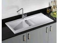 New RAK DSINK1 Dream 1 Ceramics Gourmet Sink Reversible 1.5 Bowl White Kitchen Sink