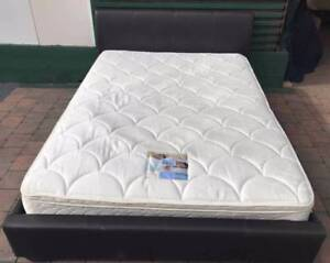 Excellent condition Leather frame Queen bed. Delivery available Kingsbury Darebin Area Preview