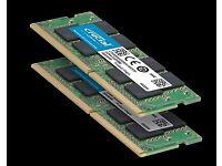 Crucial 16GB (2x 8GB) DDR4-2400 SODIMM 1.2V CL17 Laptop Memory