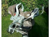 Graco pram pushchair and car seat