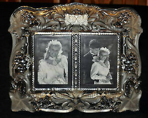 MIKASA VINTAGE MEMORIES DUET CRYSTAL FROSTED PICTURE
