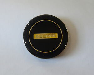 GENUINE-BRAND-NEW-BLACK-WITH-GOLD-SIMMONS-CENTRE-CAP-FOR-FR-OR-OM-SIMMONS-WHEELS