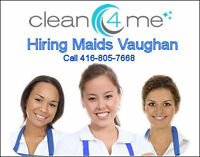Part Time - Residential Maids - $10,400+ / year + Mileage
