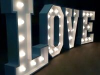 4ft Wedding LOVE Letter hire only £150