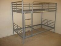 Grey metal bunk beds frame from Ikea, FREE DELIVERY
