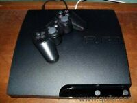 Ps3 slim 250gb good condition 2 x controls, all wires,