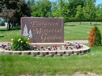 2 side-by-side burial plots in Faith Garden @ Evergreen Memorial