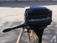 Mercury 7.5 hp long shaft outboard with electric/pull start