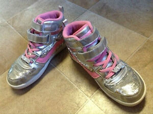 Van's Pink Sequin High Top Glitter Sneakers