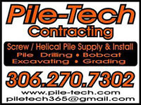 PILE TECH CONTRACTING Screw Pile installation/Pile holes
