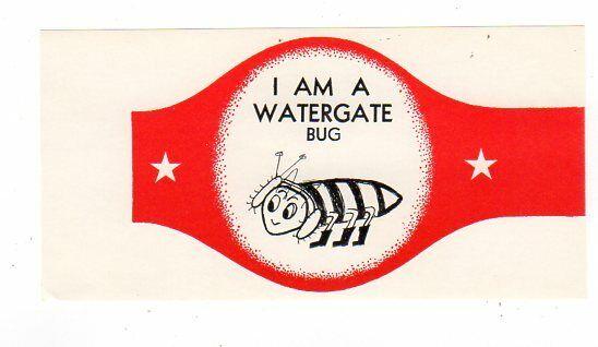 1974 President Nixon Watergate Bug Vintage Sticker (5)