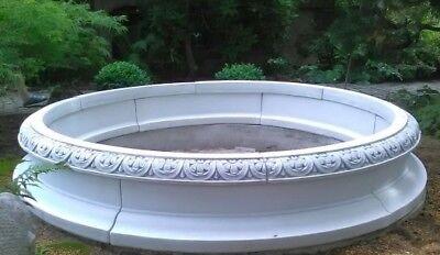 Brunnenumrandung, Baumumrandung Steinguss, Springbrunnen, Blumenbeet, Gartendeko