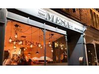 Sous chef required at Mesa. 35-40 hours per week.