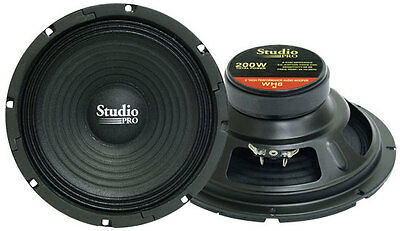 1 New Pyramid WH8 8'' 200 Watt High Power Paper Cone 8 Ohm Subwoofer Sub High Power Paper Cone