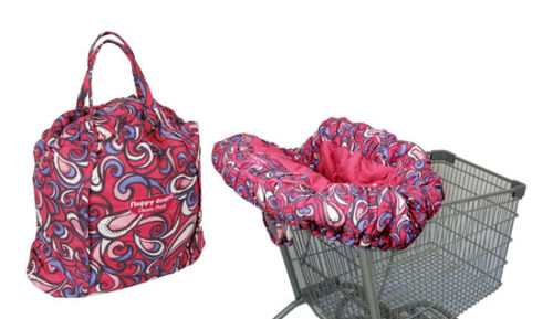 Deluxe Floppy Seat Classic Plush Pink Swirl Shopping Cart & High Chair Cover