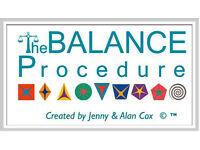 The Balance Procedure Level 1 workshop, Saturday 3 December 10 - 5, £55