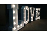 "LED ""LOVE"" LETTERS for hire / Led ""MR&MRS"" Letters / Led Dance Floors + more / Essex & London"