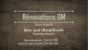 Rénovations OM-Soumission gratuite