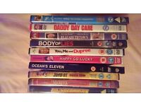 collection of 10 DVD's for a £10