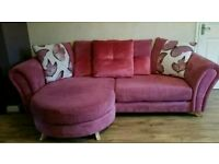 Pink DFS Lounger sofa