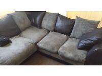 Corner sofa & matching footstool!