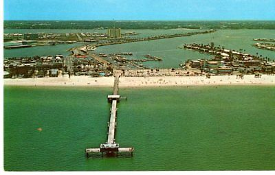 "Clearwater Beach, FL, Big Pier  "" 60 "", Aerial View, Unposted- Postcard"