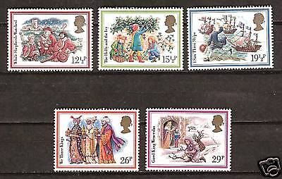GREAT BRITAIN #1006-10 MNH CHRISTMAS CAROLS MUSIC SONGS ()