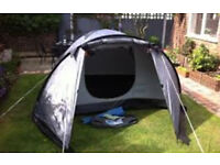 Pro Action River 240 4 Man Dome Tent- Waterproof, Quick Erect. 4 person dome tent.