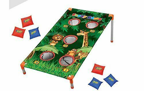Jungle Themed Corn Hole bean Bag Toss Game Party Camp Activities