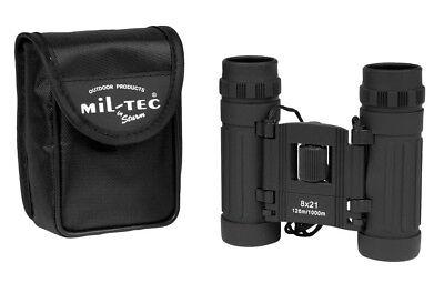 Mil-Tec Fernglas 8-fach Zoom 21mm 10x7x4cm Fernrohr Feldstecher